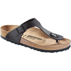 Birkenstock Gizeh Soft Footbed Flips Regular, black